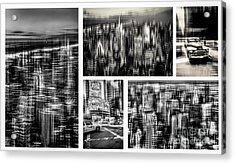Manhattan Collection II Acrylic Print by Hannes Cmarits