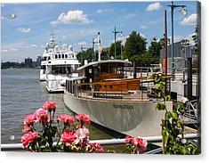 Manhattan Cruise Boat Acrylic Print