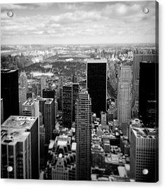Manhattan Acrylic Print by Dave Bowman