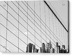Manhattan From Brooklyn Bridge Acrylic Print by Ilker Goksen