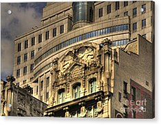 Manhattan Island Acrylic Print by David Bearden