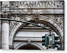 Manhattan Acrylic Print by Joanna Madloch
