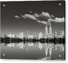 Manhattan Mirror Acrylic Print by Irene Suchocki