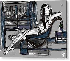 Manhattan Nude Acrylic Print by Russell Pierce