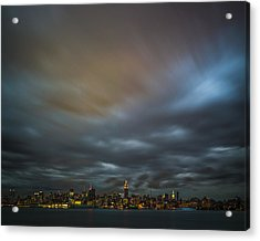 Manhattan On The Horizon Acrylic Print by Chris Halford