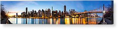 Manhattan Panorama And Queensboro Bridge Acrylic Print