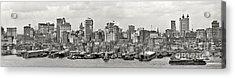 Manhattan Panorama Circa 1908 Acrylic Print