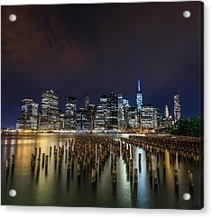 Manhattan Skyline - New York - Usa Acrylic Print by Larry Marshall