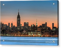 Manhattan Skyline And Pre-sunrise Sky I Acrylic Print