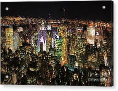 Acrylic Print featuring the photograph Manhattan Skyline Empire State Wobbles by Andy Prendy