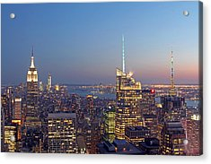 Manhattan Skyline From The Top Of The Rock Acrylic Print by Juergen Roth