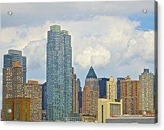 Manhattan Skyline II Acrylic Print by Galexa Ch