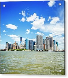 Manhattan Skyline With One World Trade Acrylic Print