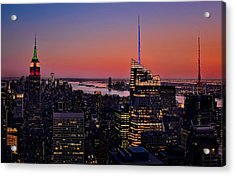 Manhattan Sunset Acrylic Print