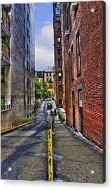 Manhattan Theater District Alley Acrylic Print by Randy Aveille