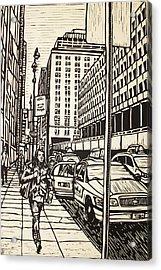 Manhattan Acrylic Print by William Cauthern