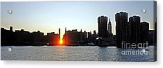 Acrylic Print featuring the photograph Manhattanhenge 2011 by Lilliana Mendez