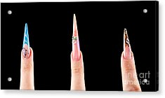 Manicure Design Set Acrylic Print by Ciprian Kis