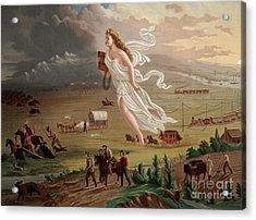 Manifest Destiny 1873 Acrylic Print by Photo Researchers