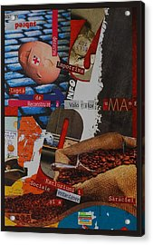 Manifesto Against Social Exclusion Acrylic Print by Mira C