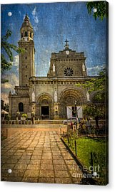 Manila Cathedral Acrylic Print by Adrian Evans