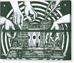 Manipulation  Acrylic Print by Richie Montgomery