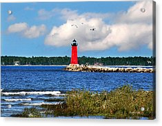 Manistique Lighthouse Acrylic Print by Christina Rollo