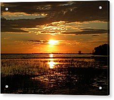 Manitoba Sunset Acrylic Print by James Petersen