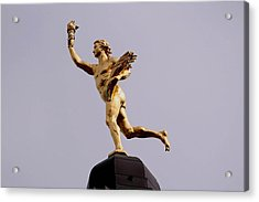 Manitoba's Golden Boy- A Historical Monument Acrylic Print by Larry Trupp