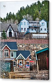 Acrylic Print featuring the digital art Manitou Springs Villiage by Mae Wertz