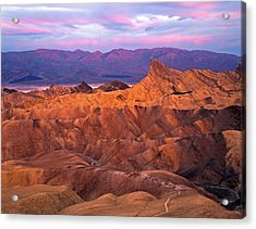 Manley Beacon From Zabriskie Point Acrylic Print by Mike Norton