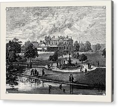 Manley Hall The New Public Park For Manchester 1880 Acrylic Print by English School