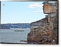 Acrylic Print featuring the photograph Manly Ferry Passing By  by Miroslava Jurcik