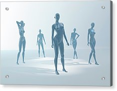 Mannequins Acrylic Print by Carol & Mike Werner