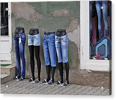 Mannequins In Draculas City Acrylic Print by Ion vincent DAnu