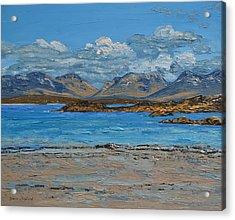 Mannin Bay And The Twelve Bens Mountains Connemara Ireland Acrylic Print