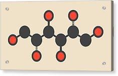 Mannitol Molecule Acrylic Print by Molekuul