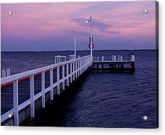 Manns Beach Jetty Acrylic Print by Evelyn Tambour