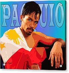 Manny Pacquio Acrylic Print by John Keaton
