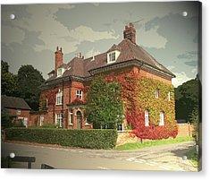 Manor House In Doveridge, Magnificent 19th Century Manor Acrylic Print