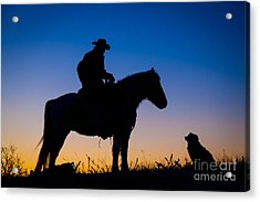 Man's Best Friend Acrylic Print by Inge Johnsson
