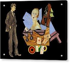 Man's Companion Acrylic Print by Laura Botsford