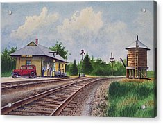 Mansfield Railroad Station Acrylic Print