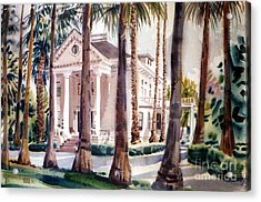 Mansion In Palo Alto Acrylic Print by Donald Maier