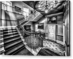 Mansion Stairway V2 Acrylic Print by Adrian Evans