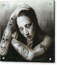 Marilyn Manson - ' Manson IIi ' Acrylic Print by Christian Chapman Art