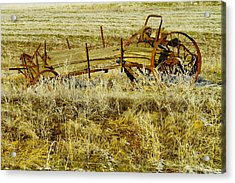 Manure Spreader Acrylic Print by Jeff Swan
