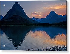 Many Glacier Sunset Acrylic Print