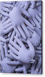 Many Gray Hands Acrylic Print