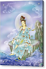 Many Treasures Avalokitesvara  Acrylic Print by Lanjee Chee